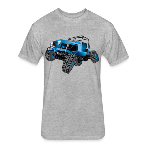 blue jeep shirt - Fitted Cotton/Poly T-Shirt by Next Level