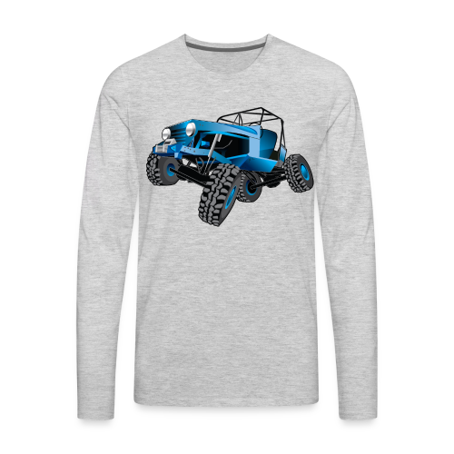 blue jeep shirt - Men's Premium Long Sleeve T-Shirt