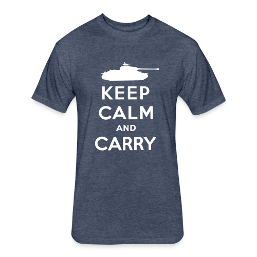 Keep Calm and Carry - Fitted Cotton/Poly T-Shirt by Next Level