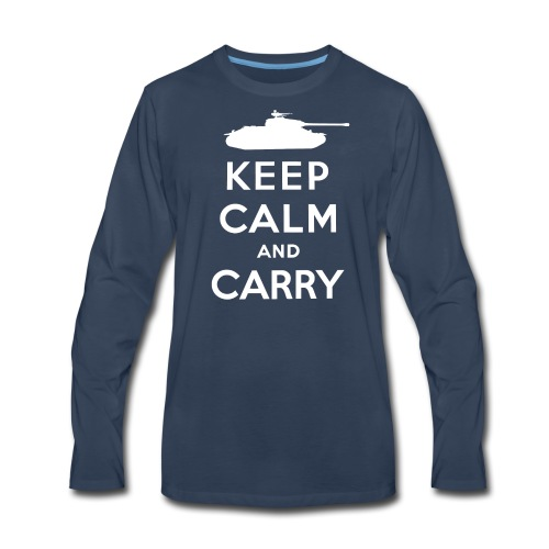 Keep Calm and Carry - Men's Premium Long Sleeve T-Shirt