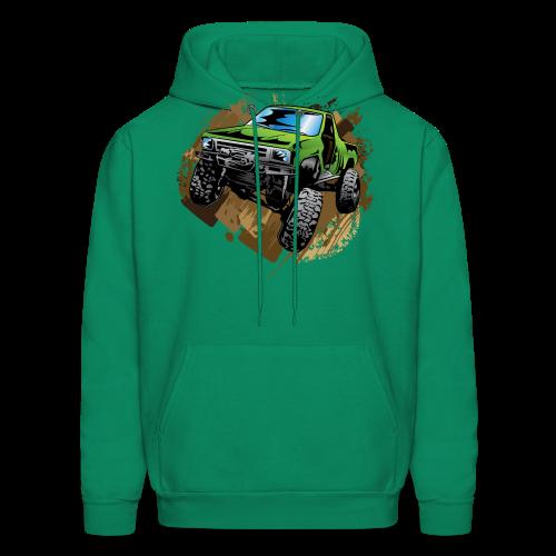 green off-road truck - Men's Hoodie