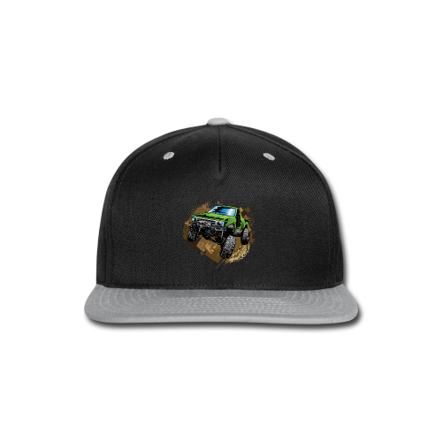 green off-road truck - Snap-back Baseball Cap