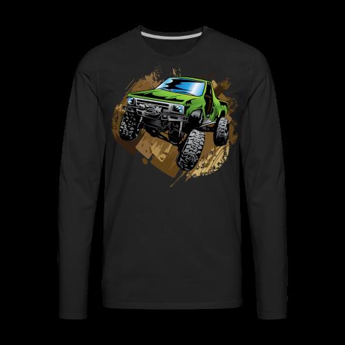 green off-road truck - Men's Premium Long Sleeve T-Shirt