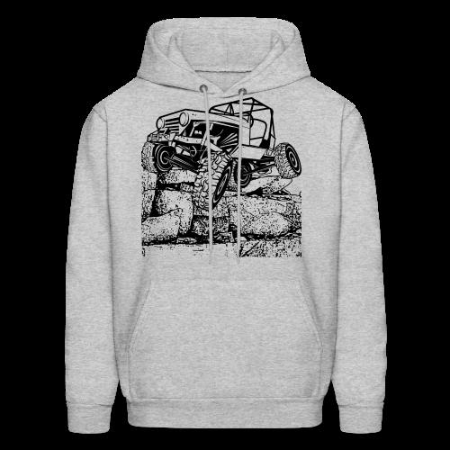 Big Rock Crawling Jeep - Men's Hoodie