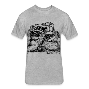 Big Rock Crawling Jeep - Fitted Cotton/Poly T-Shirt by Next Level
