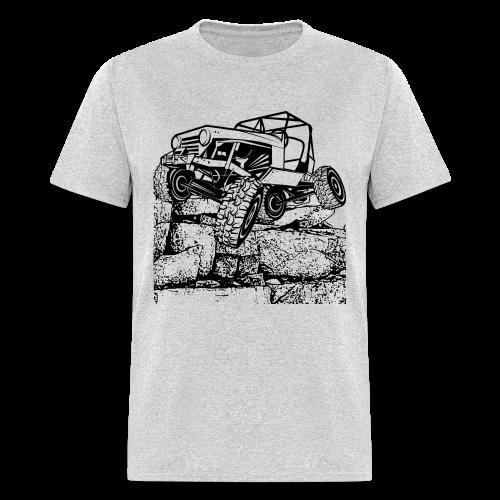 Big Rock Crawling Jeep - Men's T-Shirt