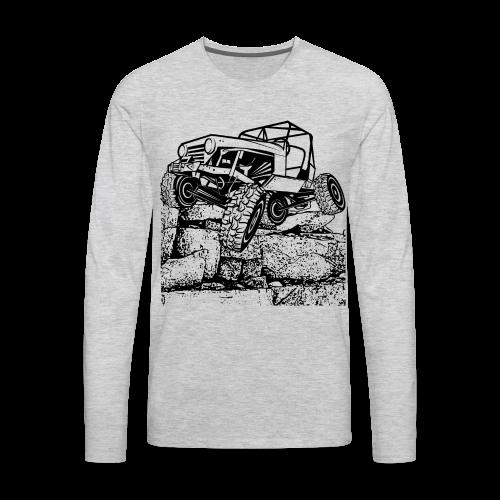 Big Rock Crawling Jeep - Men's Premium Long Sleeve T-Shirt