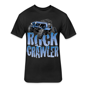 Cool Blue Jeep Rock Crawler - Fitted Cotton/Poly T-Shirt by Next Level