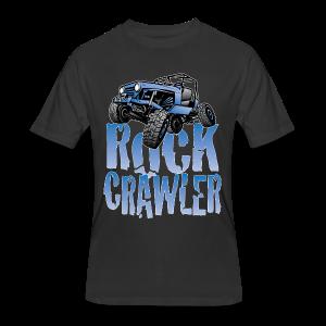 Cool Blue Jeep Rock Crawler - Men's 50/50 T-Shirt