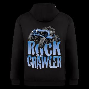 Cool Blue Jeep Rock Crawler - Men's Zip Hoodie