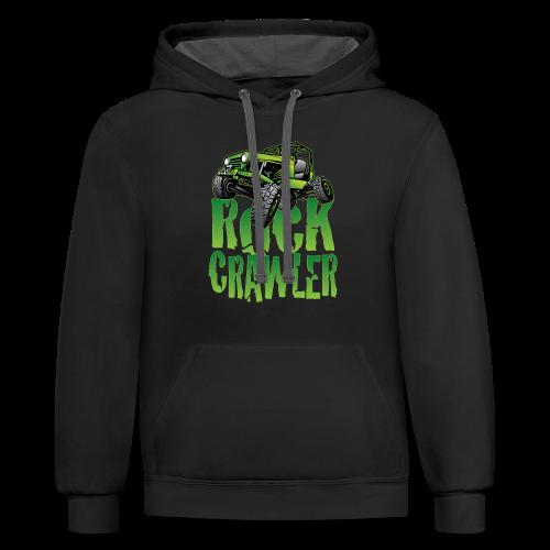 Mean Green Jeep Rock Crawler - Contrast Hoodie