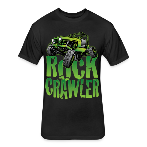 Mean Green Jeep Rock Crawler - Fitted Cotton/Poly T-Shirt by Next Level