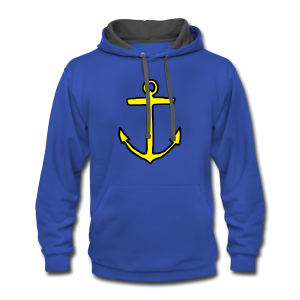 Anchor T-Shirt (Kids) Outline - Contrast Hoodie