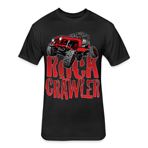 Rock Crawler Red Jeep - Fitted Cotton/Poly T-Shirt by Next Level