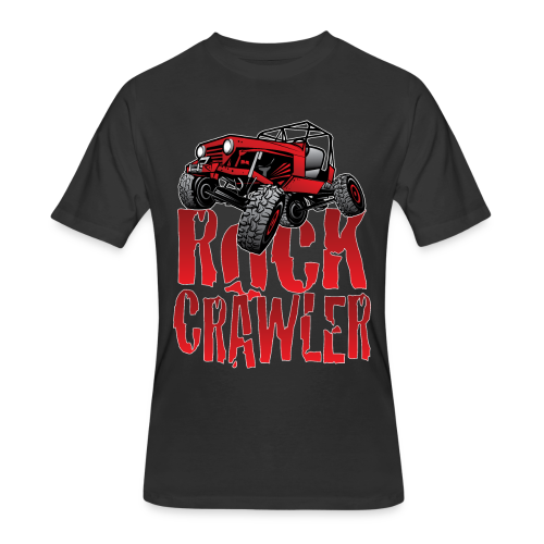 Rock Crawler Red Jeep - Men's 50/50 T-Shirt