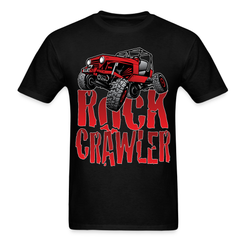 Rock Crawler Red Jeep - Men's T-Shirt
