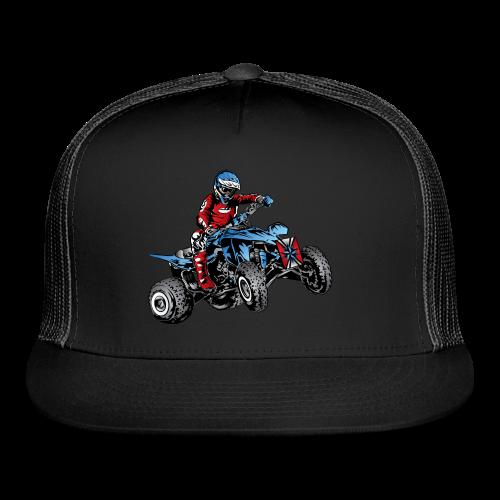 Blue Quad Rider Shirt  - Trucker Cap