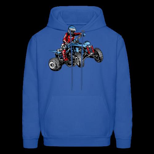 Blue Quad Rider Shirt  - Men's Hoodie