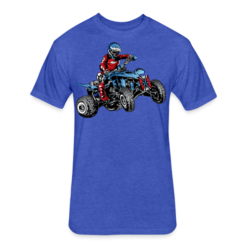 Blue Quad Rider Shirt  - Fitted Cotton/Poly T-Shirt by Next Level