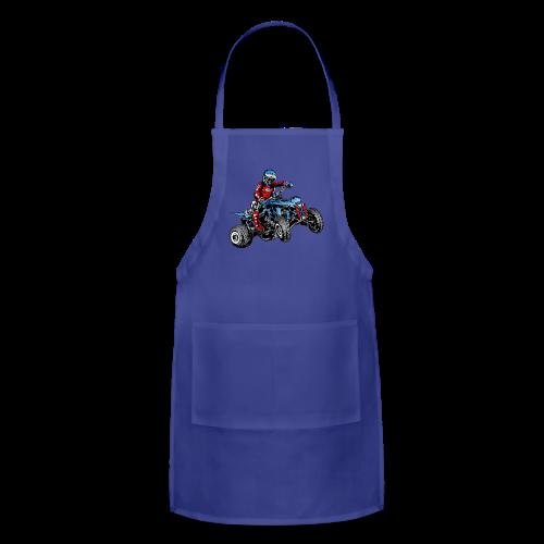 Blue Quad Rider Shirt  - Adjustable Apron