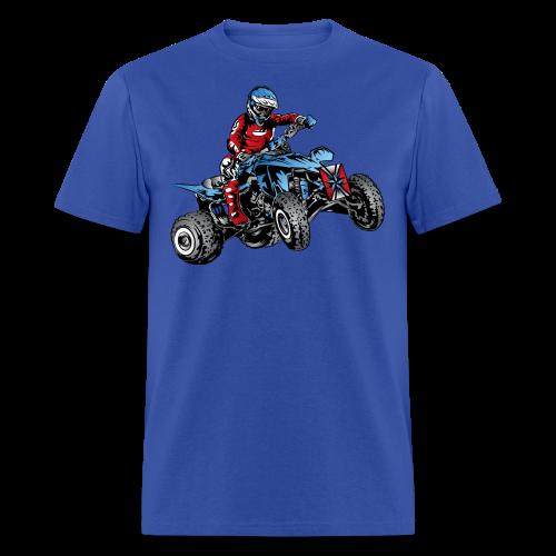 Blue Quad Rider Shirt  - Men's T-Shirt
