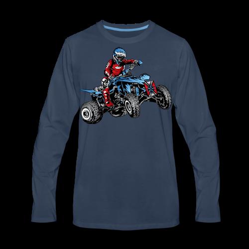 Blue Quad Rider Shirt  - Men's Premium Long Sleeve T-Shirt
