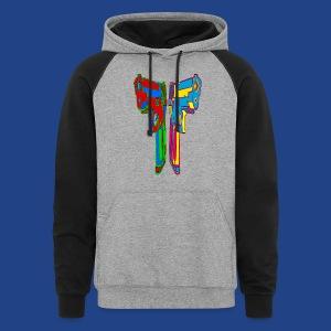 Pop Art Pistols - Colorblock Hoodie