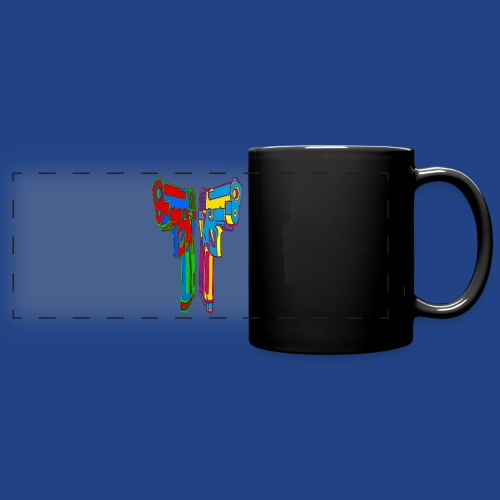 Pop Art Pistols - Full Color Panoramic Mug
