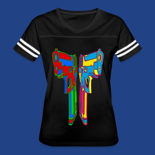 Pop Art Pistols - Women's Vintage Sport T-Shirt