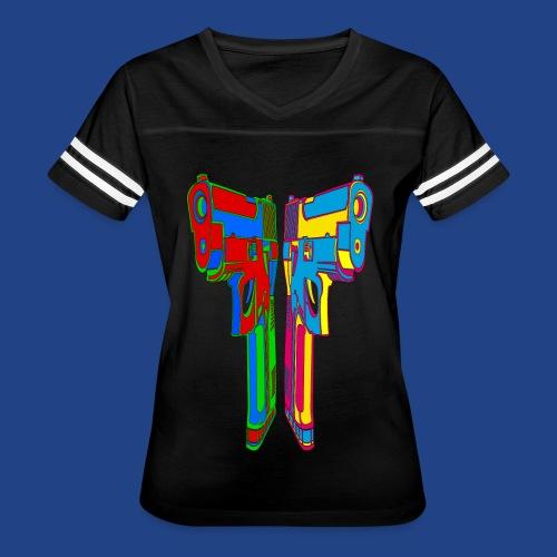 Pop Art Pistols - Women's Vintage Sport T-Shirt
