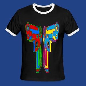 Pop Art Pistols - Men's Ringer T-Shirt