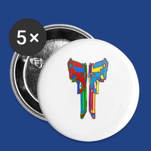 Pop Art Pistols - Buttons large 2.2'' (5-pack)