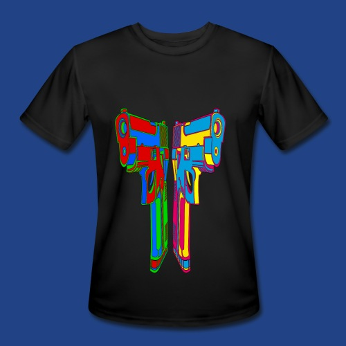 Pop Art Pistols - Men's Moisture Wicking Performance T-Shirt