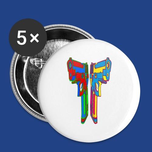 Pop Art Pistols - Small Buttons