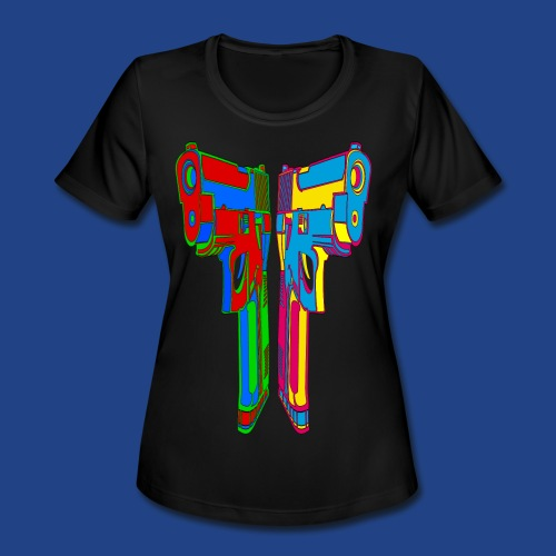 Pop Art Pistols - Women's Moisture Wicking Performance T-Shirt