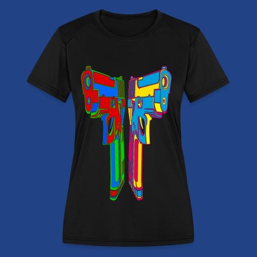 Pop Art Pistols - Women's Moisture Wicking Performance T-Shirt