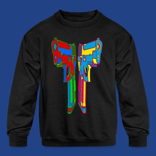 Pop Art Pistols - Kids' Crewneck Sweatshirt