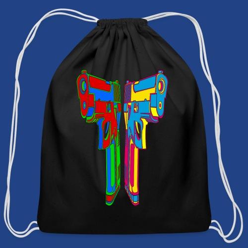 Pop Art Pistols - Cotton Drawstring Bag