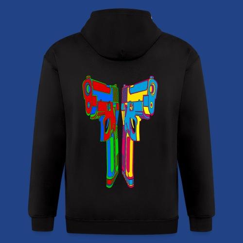 Pop Art Pistols - Men's Zip Hoodie