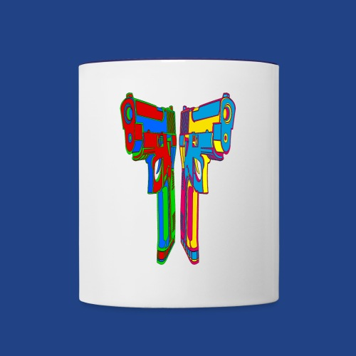 Pop Art Pistols - Contrast Coffee Mug