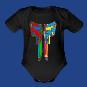 Pop Art Pistols - Short Sleeve Baby Bodysuit