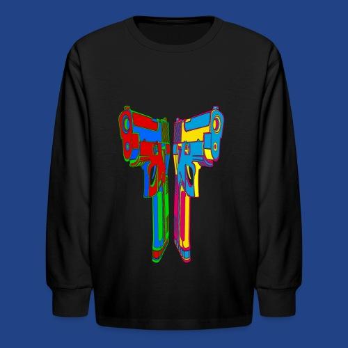 Pop Art Pistols - Kids' Long Sleeve T-Shirt