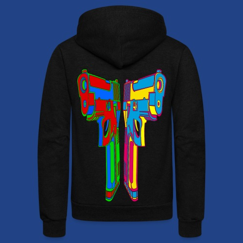 Pop Art Pistols - Unisex Fleece Zip Hoodie