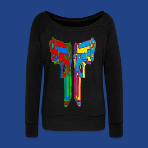 Pop Art Pistols - Women's Wideneck Sweatshirt