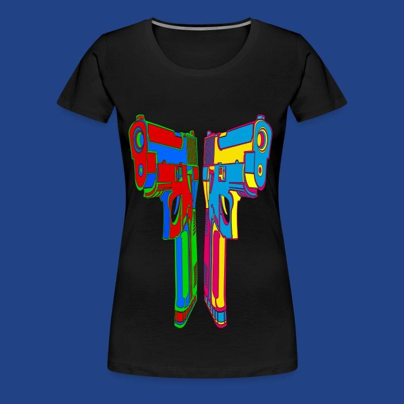 Pop Art Pistols - Women's Premium T-Shirt