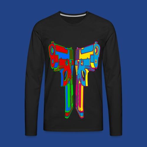 Pop Art Pistols - Men's Premium Long Sleeve T-Shirt