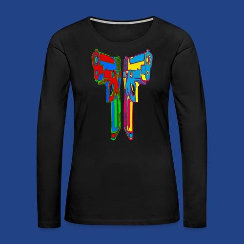 Pop Art Pistols - Women's Premium Long Sleeve T-Shirt
