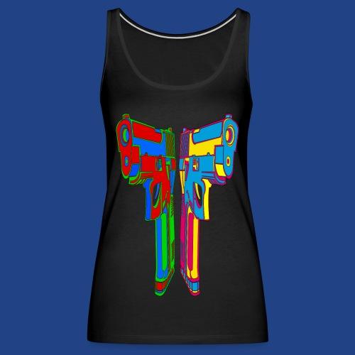 Pop Art Pistols - Women's Premium Tank Top