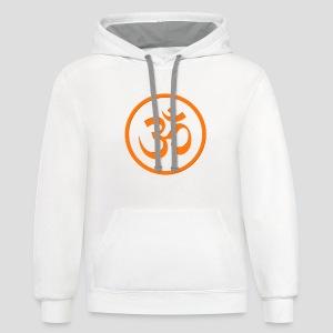 Orange Om - Contrast Hoodie