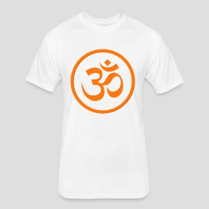 Orange Om - Fitted Cotton/Poly T-Shirt by Next Level